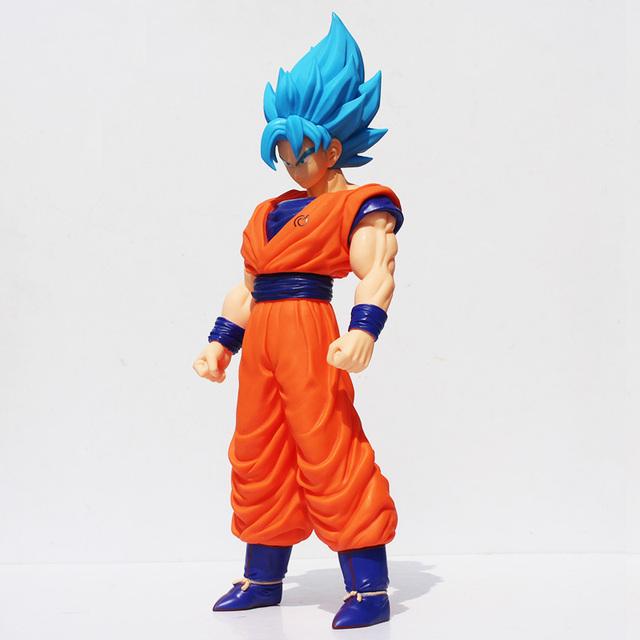 36cm Dragon ball Z Super Saiyan Son Goku Blue Hair PVC Action Figure