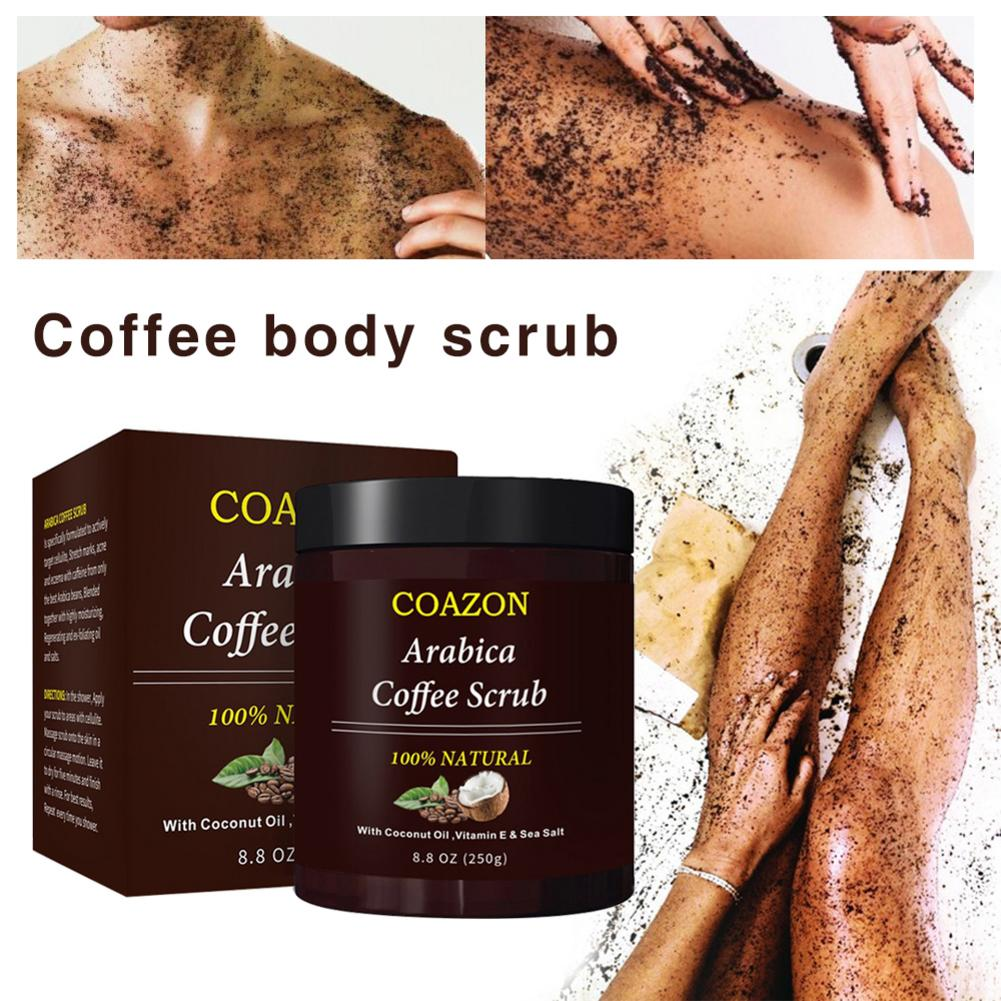 Coffee Body Exfoliation Facial Exfoliator Dead Sea Salt Cream For Exfoliating Whitening Moisturizing Anti Cellulite Treatment in Scrubs Bodys Treatments from Beauty Health