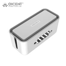 Qicent коробка кабелей кабель с держателем для телефона для питания полоски окно управления окно управления abs для удлинителей
