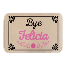 Funny Patio Furniture Welcome Doormat Print With Bye Jelicia Home Decor font b Indoor b font