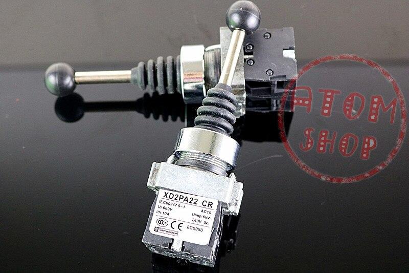 цена на XD2PA22CR 2NO 2Positions Momentary Spring Return Wobble Stick Joystick Replace Telemecanique