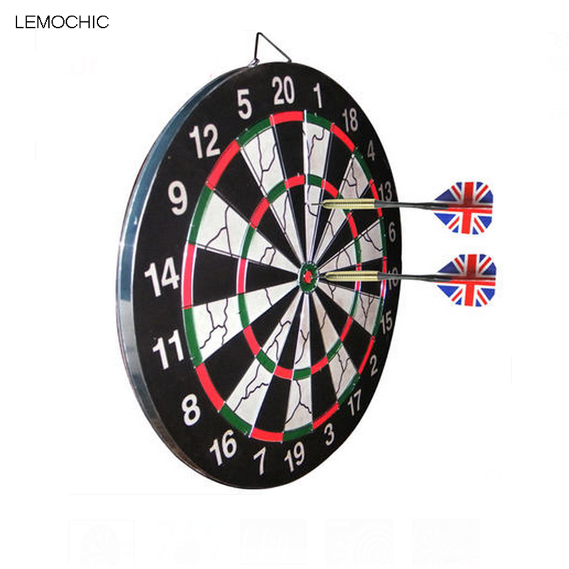 LEMOCHIC Darts Boards High-grade Double-sided Flocking Dartboard For Dart Game Entertainment Darts enter game darts legering metalen wapen model draaibaar darts cosplay props voor collectie fidget spinner hand anti stress