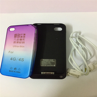 Battery Charger Case For IPhone 4 4S 4G 4000mAh Portable Backup Battery Charger Cover Power Back