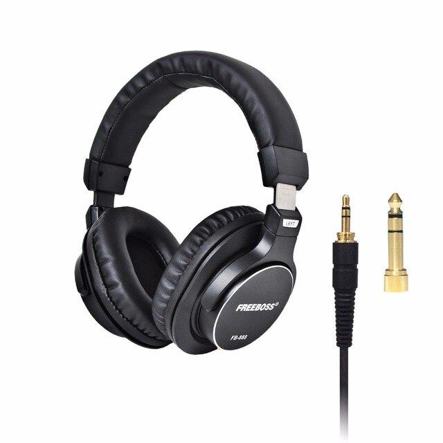 FB 888 Over ear Closed 45mm Drivers Single side Detachable cable 3.5mm Plug 6.35mm Adapter Monitor Headphones Headband Headset