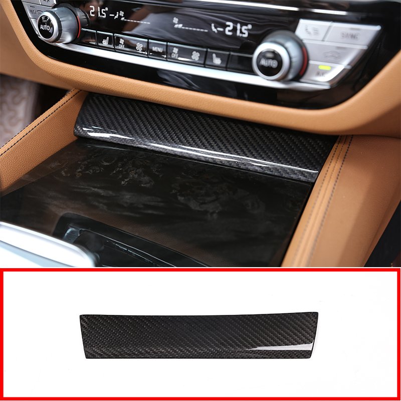 Interior Water Cup Cover Decorative Trim Steel For BMW 5 Series G30 2017 2018