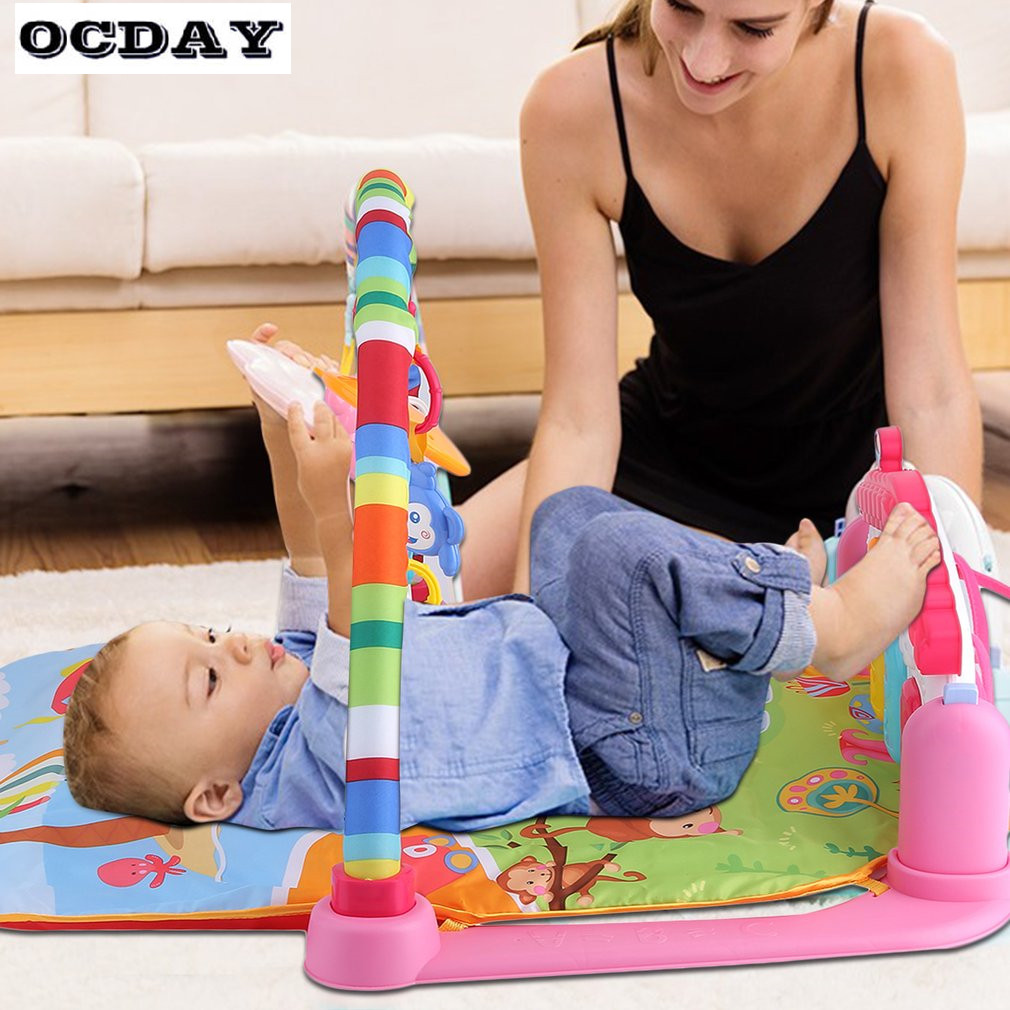 OCDAY-3-in-1-Baby-Play-Rug-Develop-Crawling-Childrens-Music-Mat-with-Keyboard-Infant-Fitness-Carpet-Educational-Rack-Toys-pad-2