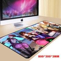 800*300mm XL Gumowe Ogromne Profesjonalne Gaming Gamer Podkładka Pod Mysz Szyte Krawędzi Wodoodporna Ultra 3mm Silky Duże rozmiar Gry PC