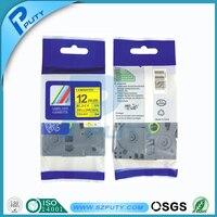 Kompatibel etikettenband 12mm schwarz auf gelb tze band tze-631 tz 631 für p touch drucker