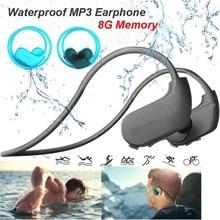 Модные уличные IPX8 пыле Водонепроницаемый MP3 плеер Спорт MP3 наушников HiFi музыка память 8 ГБ Плавание Дайвинг наушники для бега.