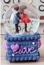 JARLL crystal ball music box music box boy girl children pray rotary birthdayFour music seven colourful lights