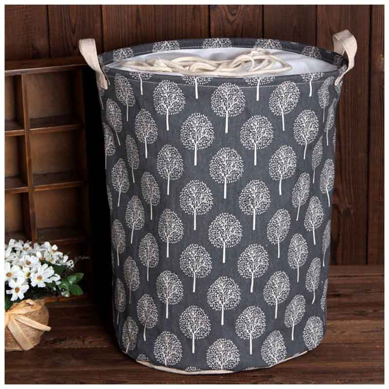 Large Bucket Drawstring Beam Port Dirty Clothes Laundry Basket Foldable Toys Storage Organizer Household Sundries Bag