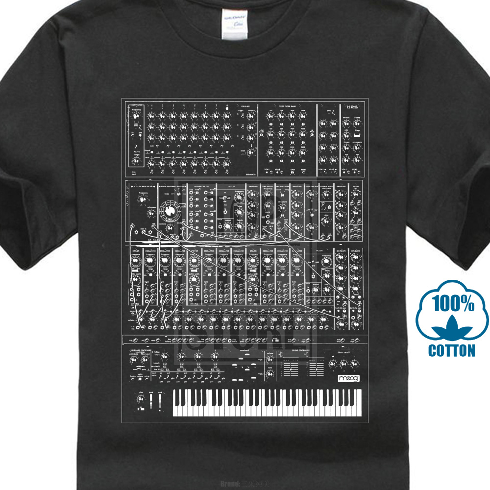 Synthesizer T Shirt Analog Moog Modular 80s Synth Keyboard Piano Korg Custom Made Good Quality T Shirt Top Tee White Style