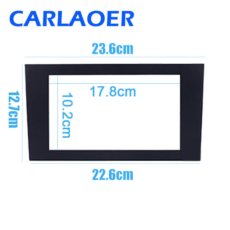 Image 3 - Car 2 DIN Fascia Panel Plate Frame For AUDI A4 (B6) A4(B7)SEAT Exeo Stereo Fascia Dash Trim Installation Frame Kit-in Fascias from Automobiles & Motorcycles