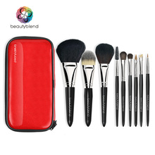 Beautyblend Brand J-8038 Professional Makeup Brush Set 9pcs High Quality Makeup Tools with Bag Super Beauty Essential Brush Set