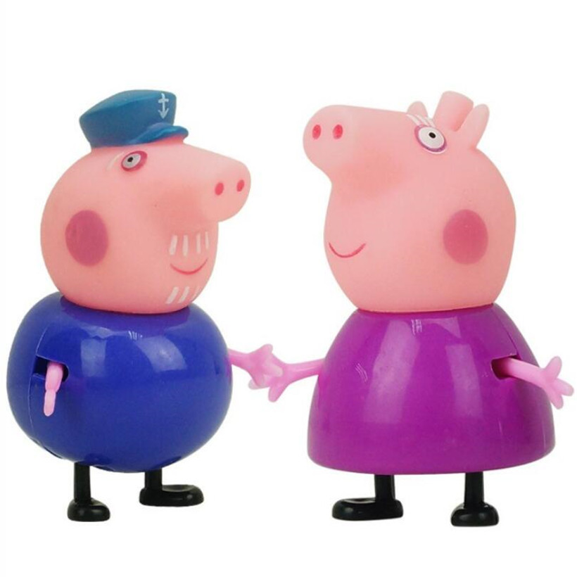 Original Peppa Pig George Guinea Pig Family Pack Dad Mom Action Figure Model Pelucia Toys For Children Gifts