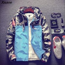 Floral Bomber Jacket Men Hip Hop Slim Fit Flowers Pilot Bomber Jacket Coat Men's Hooded Jackets Plus Size 4XL Xnxee недорого