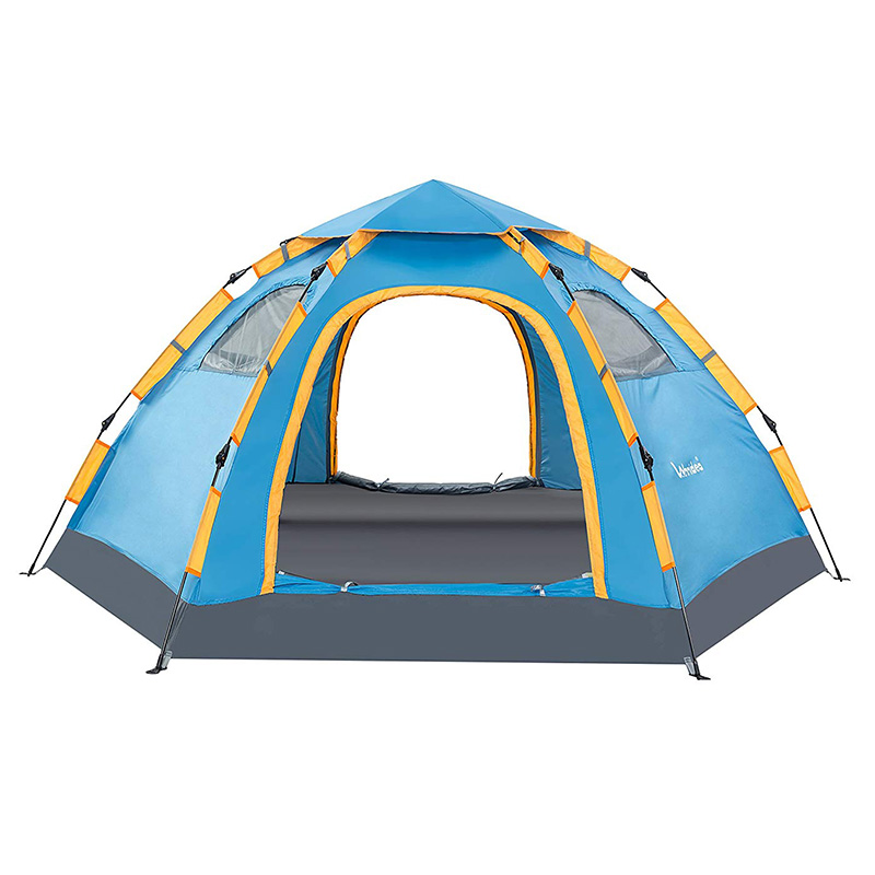 Wnnideo Instant Dome 6-Person Camping Tent Outdoor Portable Pop up Beach Awning 10' x 7.8'x 4.7' Emergency shelter stylish round neck long sleeve solid color slimming sweater for women