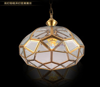 Dining Room Copper Tiffany Pendant Light For Country House Villa Vintage Pendant Lamps Bar Corridor Indoor