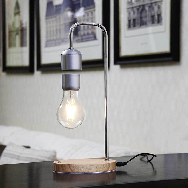 Dropshipping magnetyczny lewitujący pływający żarówka lampy biurko na wyjątkowe prezenty wystrój pokoju światło nocne biurko do pracy w domu Tech zabawki w Figurki i miniatury od Dom i ogród na  Grupa 2