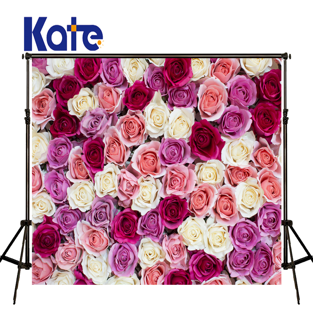 Kate Flower Wall Backdrop Spring Photography Backdrops Romantic Wedding Photography Backdrops Custom Large Size Seamless Photo 857 seamless nail wedding photo frame wall paintings hook the real invisible