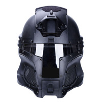 WST Medieval Iron Knight Military Tactical Helmet for Outdoor Sport Combat Airsoft Protective Face Mask Paintball Accessories