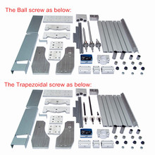 DIY CNC frame 3040 Ball screw without motor of  Engraver Milling Machine cnc frame kit 3040 z ball screw cnc router frame