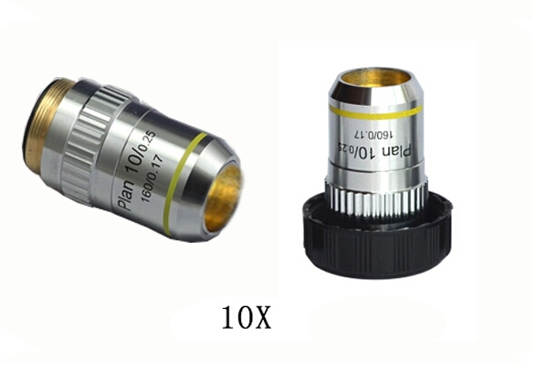 10X L=195 Plan Achromatic Bio-Microscope Biological Microscope Objective Lens Thread Diameter 20.2x0.705 for Medical Science  цены