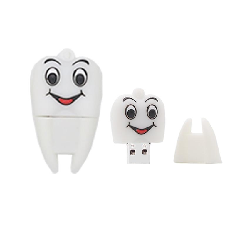 Mini USB flash drive cartoon tooth pen drive 4GB 8GB 16GB 32GB 64GB cute memory stick mini computer gift pendrive usb stick cle