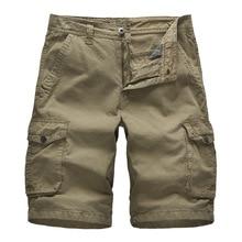 Camo Military Shorts Bermuda 2019 Summer Camouflage Cargo Men 100% Cotton Loose Tactical Short Pants