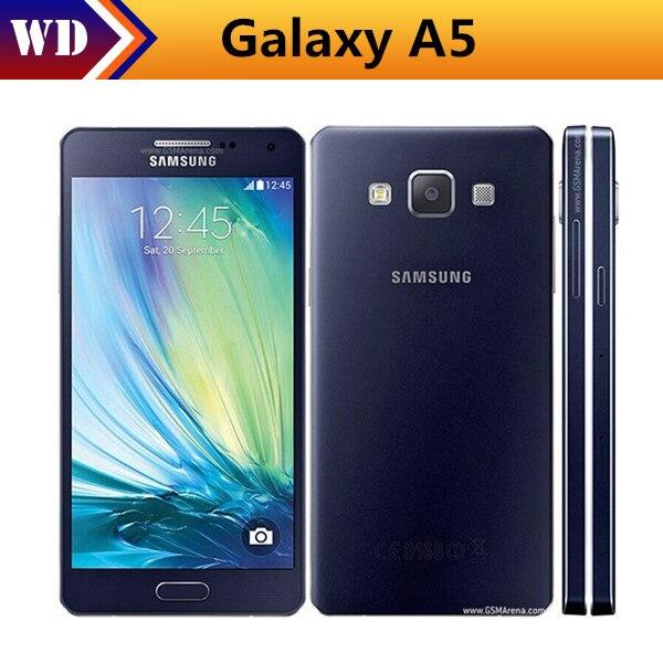 e4ecbea2b96 Odblokowany Samsung Galaxy A5 A5000 A500F oryginalne telefony komórkowe LTE  16 GB Dual Sim 5.0 Cal