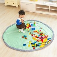 Grande 150 cm De Armazenamento Portátil Toy Kids Bag and Play Mat Brinquedos Lego Organizador Bin Box