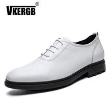 Vkergb New italian Men Dress shoes formal mens Leather Business Handmade business wedding Office Luxury Shoes