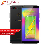 2018 Original ZTE Nubia N3 Mobile Phone 4GB RAM 64GB ROM 5000mAh 6.01inch Snapdragon 625 Octa Core Fingerprint ID Android7.1