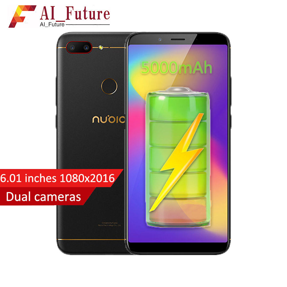 2018 Original ZTE Nubia N3 Handy 4 gb RAM 64 gb ROM 5000 mah 6,01 inch Snapdragon 625 Octa core Fingerprint ID Android7.1