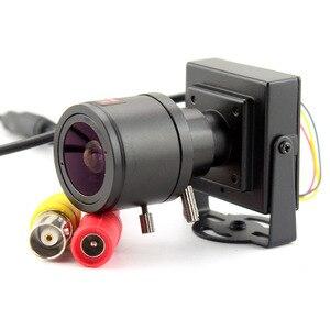 Image 2 - 1000TVL Varifocal Lens Mini Camera 2.8 12mm Adjustable Lens+RCA Adapter Security Surveillance CCTV Camera Car Overtaking Camera