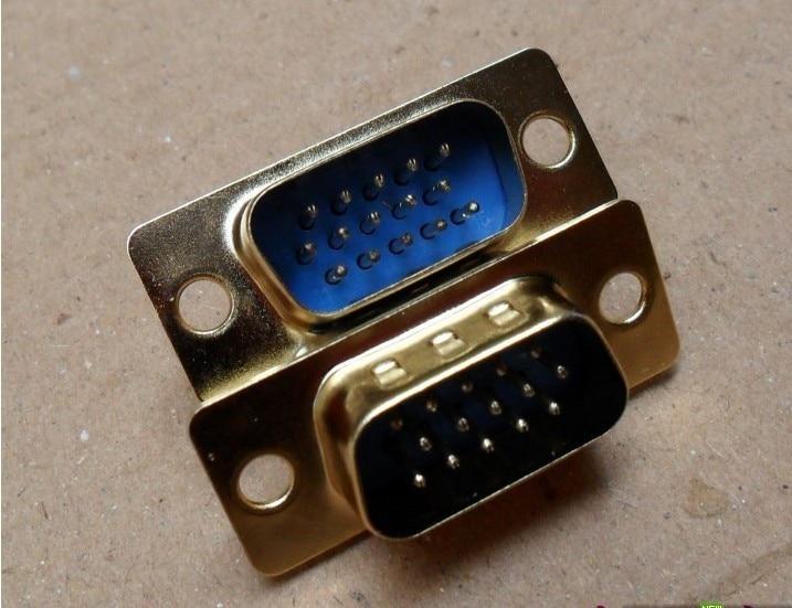 5pcs/lot  vga wire head welding head VGA male vga plated plugs