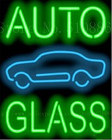 Auto Glass W Graphic Repair Real Tube Car Neon Sign Beer Handcrafted Automotive Signs Shop Store