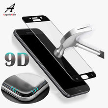 Top 9D untuk Samsung Galaxy A8 A8s A7 PRO PLUS J5 J7 Prime MAX 2017 2018 Screen Protector Tempered Kaca penutup Penuh Film Kasus(China)