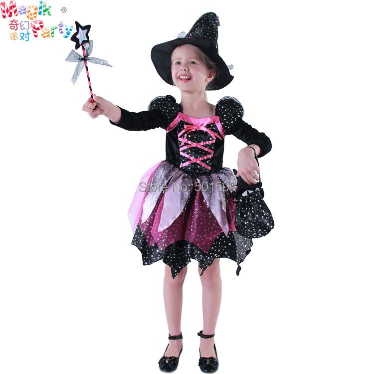 envo gratis completo conjunto nios nias clsico de halloween disfraces de brujas glitter dress con sombrero