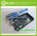 Shiping livre 2560 Mega R3, CH340G, Mega2560 REV3 ATmega2560-16AU Board + Cabo USB