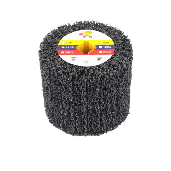 120*100*19mm Drum Cleaning Striping Wheel for Stainless Steel Grinding Welding Repair Paint Rust Removal