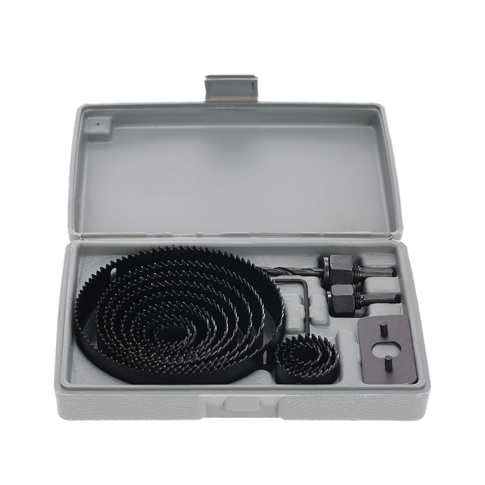 16pcs Hole Saw Kit Cutting Drilling Tool Wood Metal Cutter Set 3/4-5 Good quality Core Drill Bits new offer of 3pcs set wall saw tool kit 1pc wall hole saw 110mm m22 with 1pc sds plus extension rod 330mm with1pc central drill