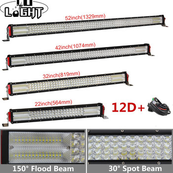 "CO LIGHT 22""32""42""52"" Inch 12D Offroad Led Bar 924W 744W 564W 384W Led Light Bar Spot Flood Combo 9-32V for Auto 4x4 Lada Niva"