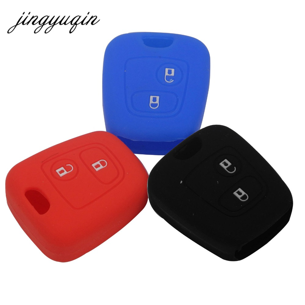 jingyuqin Silicone Car Key Case for Peugeot 206 307 207 408 for Citroen C2 C3 C4 Iran Skin Rubber Key Cover okeytech silicone case for citroen c4 c5 c3 c2 c4l xsara picasso for peugeot 208 207 308 rcz 408 407 307 206 car flip key cover