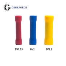 Bornes d'épissure BV1 200 500, BV-2 ou BV-5.5 pièces, bornes d'épissure pré-isolées à ressort, Cosse, connecteur de sertissage électrique, blocs d'adaptation de fil