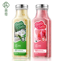 1 set=2 piece Floral scent fragrance rose and Jasmine exfoliating body scrub petals bath salts whitening soak bath