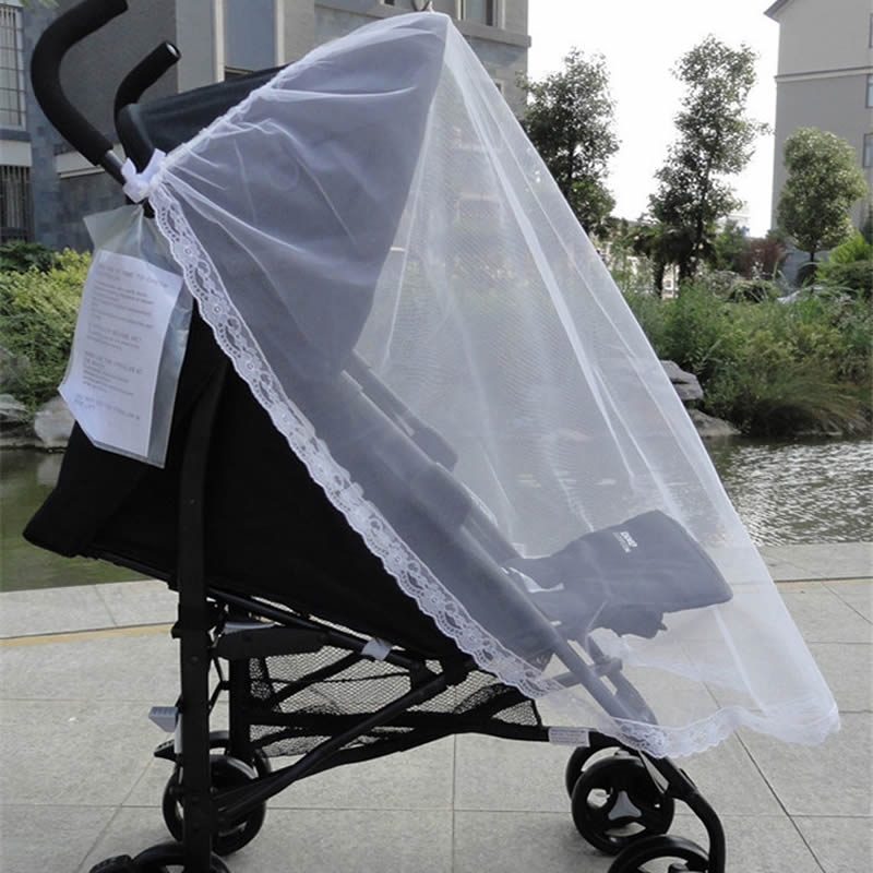 Baby Stroller Pushchair Mosquito Insect Shield Net Safe Infants Protection Mesh Stroller Mosquito Net Stroller Acces