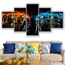 HD 5 Pieces Cartoon Assassins Creed Canvas Print Printed Video Games Paintings Posters Wall Art Prints Home Decor Framed