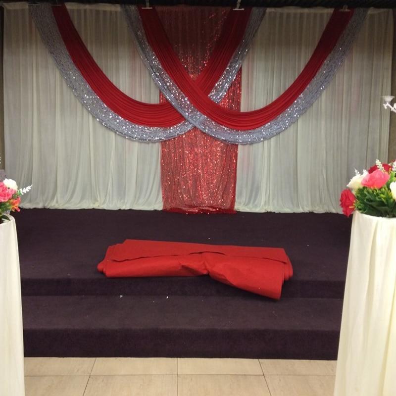 Luksuslik 3 * 6m valge ja punane jää Siidijääkidega pulmadeks - Pühad ja peod - Foto 3