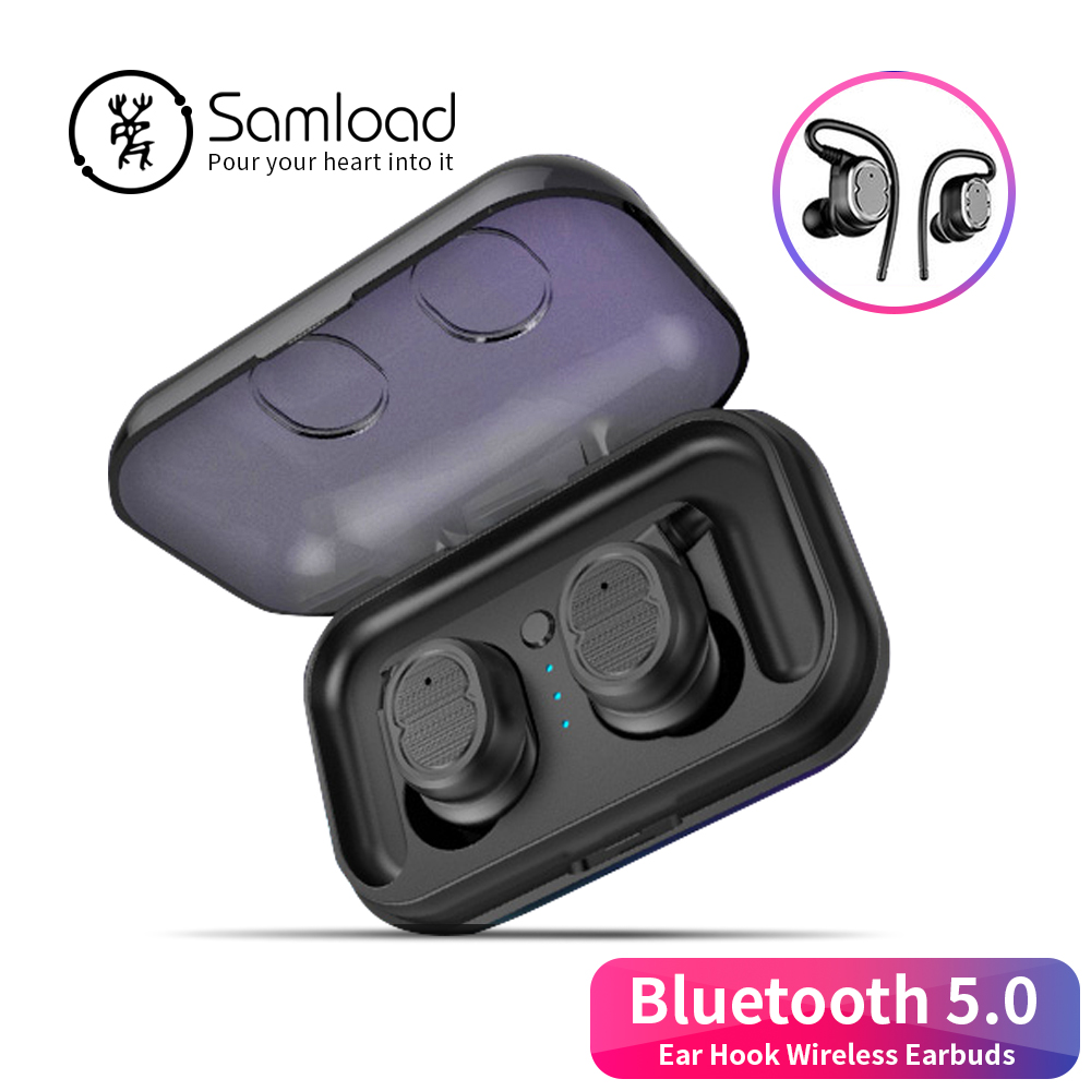 $28.94 Samload Stereo Music Earphones Binaural call Bluetooth 5.0 Headset Sports Headphones Jogging Earbud For iPhoneSE 7 8 Xiaomi Sony